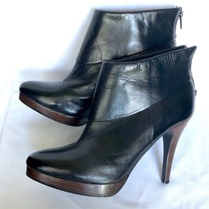 Steve Madden Leather Heels Boots size 10